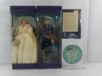 1982 Princess Diana and Prince Charles Wedding Dolls - Goldberger