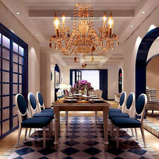 Vintage Chandelier 4 Light Ceiling Lamp Clear Crystals Glass Living Room Light