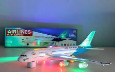 JOUET ENFANTS AVION AIRBUS A380 avec Lumières et SONDE grande taille BUMP ROULEZ
