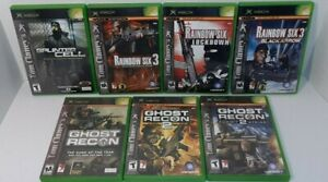 Lot of 7 Original Xbox Tom Clancy Splinter Cell Ghost Recon Rainbow Six All CIB