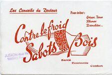 BUVARD / CHAUSSURE / CONTRE LE FROID SABOTS DE BOIS