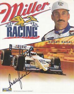 Bobby Rahal Autograph Miller Racing Photo Card