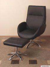 Sessel inkl. Hocker Relaxsessel Fernsehsessel Clubsessel Polstersessel schwarz