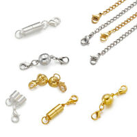 1 Set Stainless Steel End Chain and Brass Magnetic Clasps DIY Jewelry Findings