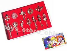 Sailor Moon Crystal Star Compact Transformation Brooch ChibiMoon Necklace Set B