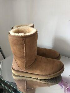 Ugg Australia Boots Size 8.5 Uk Chestnut Short Good Condition