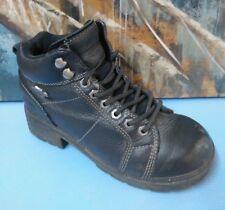 Women's HARLEY DAVIDSON 84280 Black Leather Motorcycle Biker Boots Sz 8  US