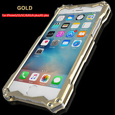 For iPhone 5s SE 6s 7 Plus Luxury Shockproof Aluminum Metal Slim Hard Cover Case