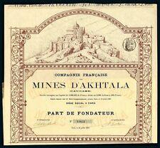 More details for armenia/russia: cie. francaise des mines d'akhtala, founders share, paris 1887
