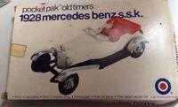 Entex Model Kit 1928 Mercedes-Benz s.s.k. Car #8462B Pocket Pak Old Timers 1/43