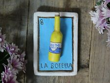 Clay Loteria #8 El Botella - the Bottle by Rafael Pineda Mexican Board Game Folk