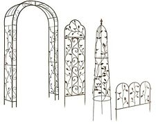 Nature Metal Rose Arch - Plant Obelisks - Garden Wall Trellis