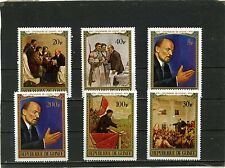 GUINEA 1970 Sc#564-569 PAINTINGS/LENIN SET OF 6 STAMPS MNH