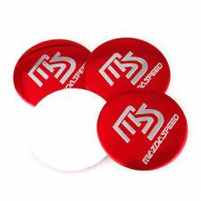 4x 56mm 3D MS Speed Emblem Wheel Center Cap Alloy Stickers Badges For Mazda JDM