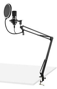 VONYX CMS300B USB Pro Podcast Set Studiomikrofon Großmembran Kondensatormikrofon