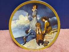 "Norman Rockwell ""Waiting On The Shore"" Vintage Collectible Plate. Knowles China"