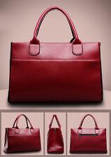 Fashion Women Genuine Leather Shoulder Bag Large Tote Satchel Classical Handbag