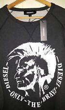 Diesel Sweatshirt Pullover Men's Sz: XL $128.00 Black Dark Grey