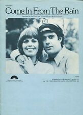 Come In From The Rain Captain & Tennille Carole Bayer Sager  Sheet Music
