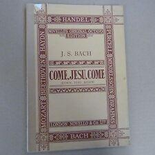 vocal score BACH  come jesu come, Novello's Octavo Edition