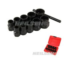 CT1058 11PC Socket Set Locking Wheel Nut Remover For Broken Stud & Rounded Bolts