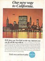 1967 Original Advertising' Vintage Pan-Am American Airways New York