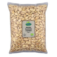Organic Blanched Almonds 1kg Certified Organic