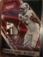 2018 Panini The National Bradley Chubb RPA RC Rookie Patch AUTO 1/5