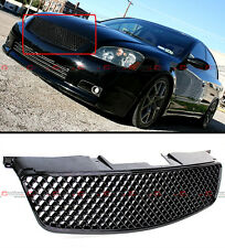GLOSSY BLACK JDM 3D DIAMOND FRONT HOOD MESH GRILL GRILLE FOR 05-06 NISSAN ALTIMA