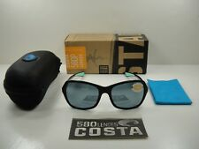 COSTA DEL MAR KARE POLARIZED SUNGLASSES KAR203 OSGP BLACK MINT/SILVER GRAY 580P
