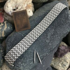 22mm Beads of Rice Wide Stainless Steel Speidel Expansion nos Vintage Watch Band