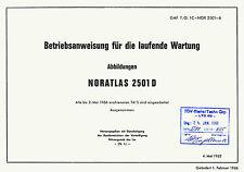 NORD 2501D NORATLAS - BETRIEBSANWEISUNG FÜR DIE LAUFENDE WARTUNG