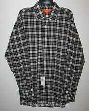 NEW Tallia Mens Size XL Black Plaid Casual Button Front Shirt Long Sleeve Blue