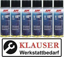 6 x Wachs Unterbodenschutz Spray APP W 100 Wax 500ml Farbe: anthrazit (10,37€/L)