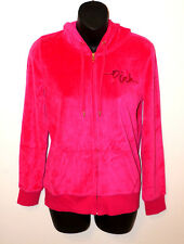 VICTORIA'S SECRET LOVE PINK VELOUR HOODIE Sweater Long Sleeve Shirt Jacket Small