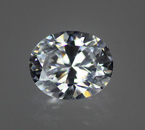 5A White / Clear Oval Cubic Zirconia CZ loose, Size Choice
