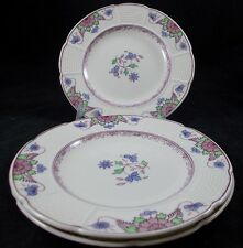 Wedgwood SAXON 3 Bread & Butter Plates GREAT CONDITION