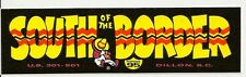 South of the Border I-95 SC/NC State Line MINI Vinyl Bumper Sticker Decal 6""