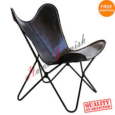 Black Leather Butterfly Arm Chair Butterfly Cow Leather Armchair Butterfly Chair
