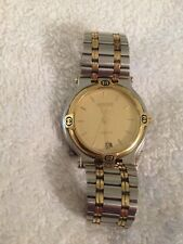 dde3c8a96e3217 LADIES GUCCI 9000M 2TONE GOLD PLATE SWISS QUARTZ DATE WATCH