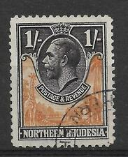 N.RHODESIA, KGV 1925 ISSUE,  1/-  SG 10, FINE USED, CAT £1.75