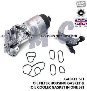 GASKET SET PEUGEOT 207 308 1.6 HDI DIESEL Oil Filter Housing & Oil Cooler GASKET