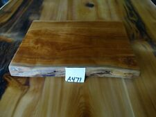 """# A471 1 3/8"""" thick rustic wooden cheese serving board live edge wild cherry"""