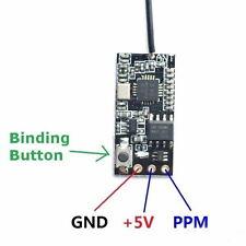 US Stock FS 2.4GHz 6CH Micro Receiver PPM Signal Output 1g 5V for FS FLYSKY