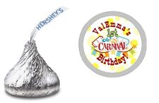 CARNIVAL FAIR PERSONALIZED HERSHEY KISS LABELS STICKERS BIRTHDAY PARTY FAVORS