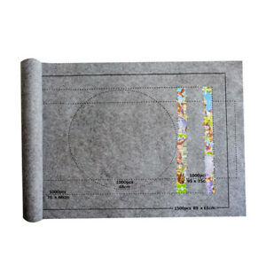 "Portable Jigsaw Puzzle Storage Mat 24x46"" Gray Roll Up Felt For Up To 1500Pcs"