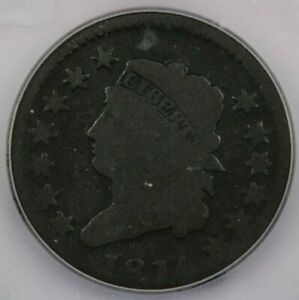 1814 Large Cent ICG AG3 (Crossiet 4)