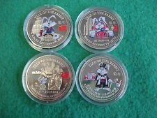 CHINA 1999 lunar trade dollars colourised x 4 different encapsulated FREEPOST