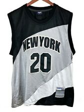 Delf Sports Collection Basketball New York 04201971 Black Silver Jersey