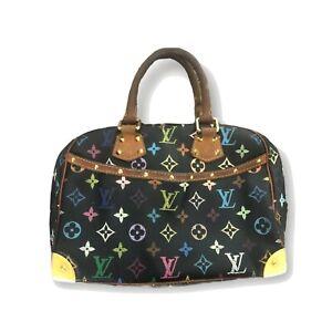 Louis Vuitton LV Hand Bag Trouville M92662 Black Monogram Multicolore 1520795